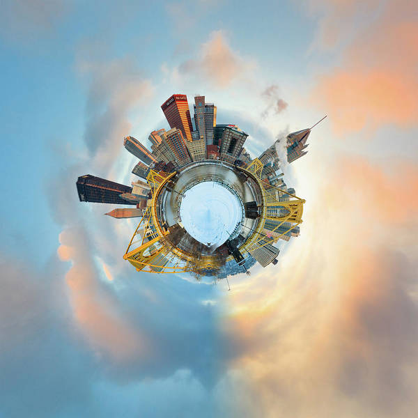 Photograph - Pittsburgh Little Planet 4 by Emmanuel Panagiotakis