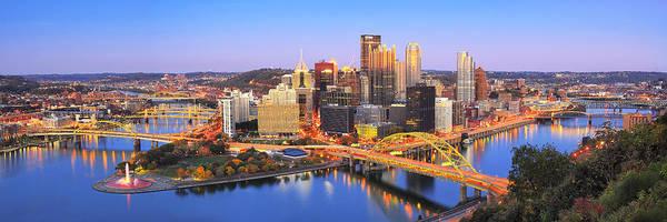 Ohio River Photograph - Pittsburgh Pano 22 by Emmanuel Panagiotakis