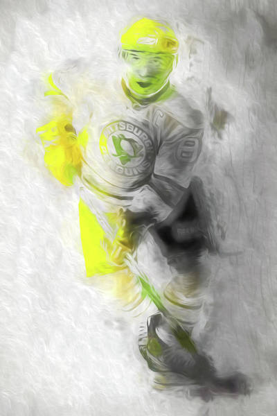Photograph - Pittsburgh Penguins Nhl Sidney Crosby Painting Fantasy by David Haskett II