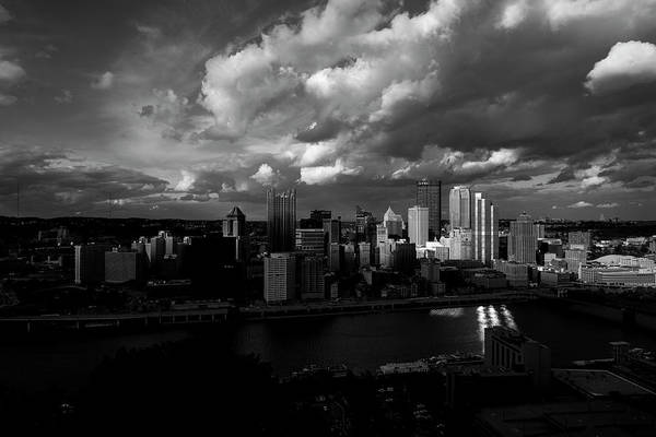 Photograph - Pittsburgh Pennsylvania Skyline Black And White  by David Haskett II