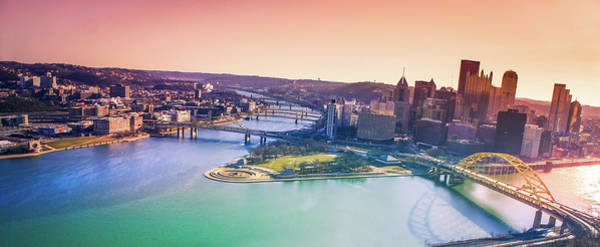 Wall Art - Photograph - Pittsburgh Pink Sunrise by Art Spectrum