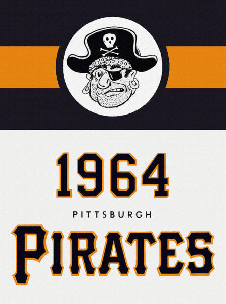 Hitter Painting - Pittsburgh Pirates 1964 Media Guide by John Farr