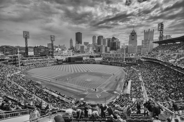 Photograph - Pittsburgh Pirates Pnc Park Bw X1 by David Haskett II
