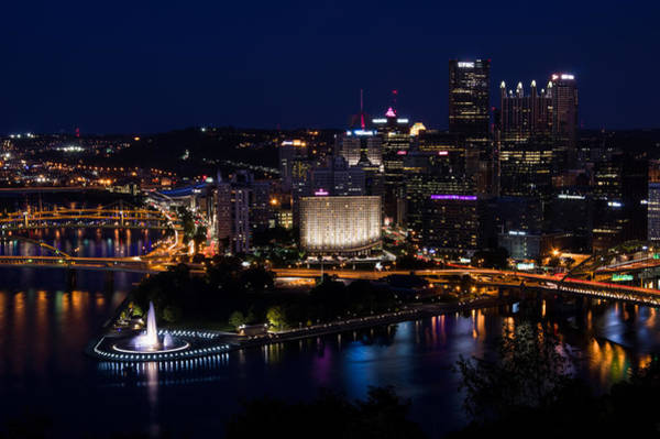 Photograph - Pittsburgh Sparkles At Night by Lori Coleman