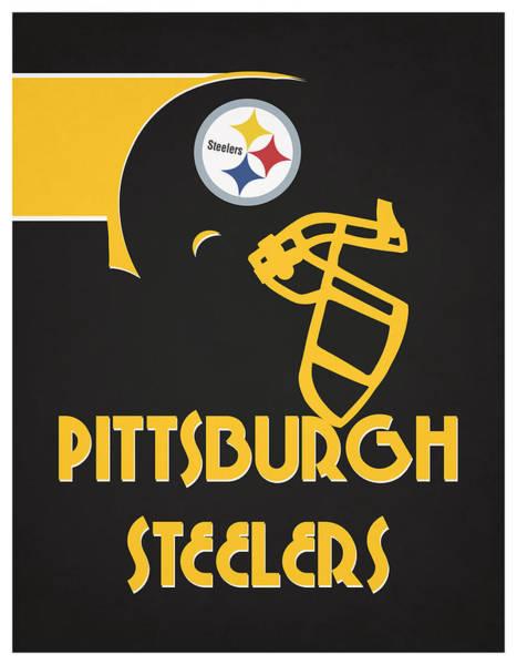Wall Art - Mixed Media - Pittsburgh Steelers Team Vintage Art by Joe Hamilton