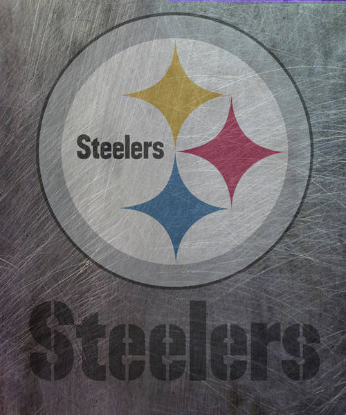 Mixed Media - Pittsburgh Steelers Translucent Steel by Movie Poster Prints