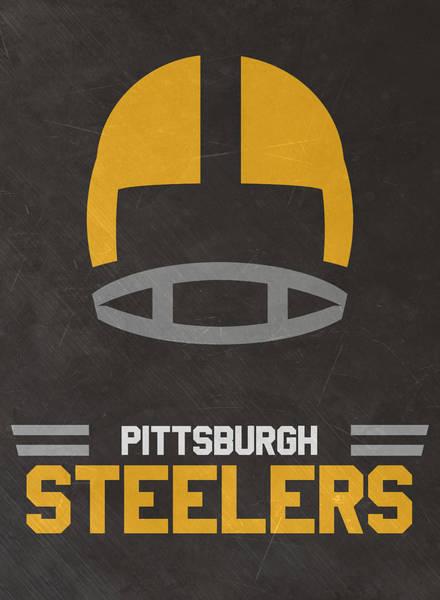 Wall Art - Mixed Media - Pittsburgh Steelers Vintage Art by Joe Hamilton