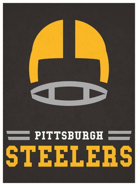 Wall Art - Mixed Media - Pittsburgh Steelers Vintage Nfl Art by Joe Hamilton