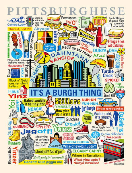 Pittsburghese Art Print