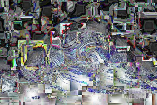 Digital Art - Pixel Crash by Eva-Maria Di Bella