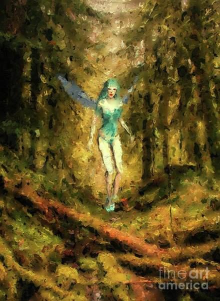 Faerie Painting - Pixie Queen by Mary Bassett