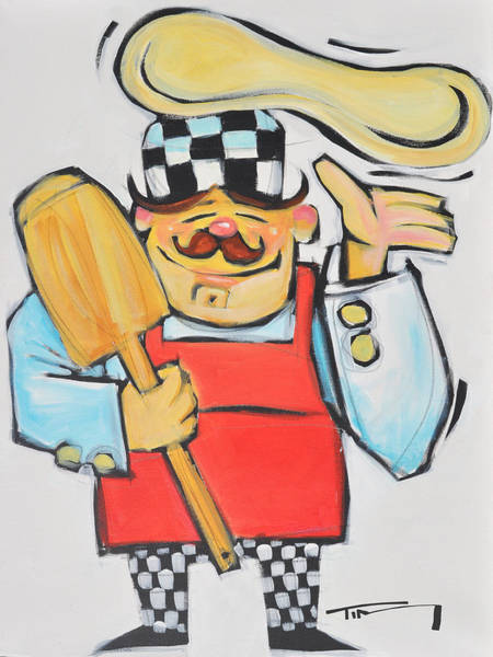 Wall Art - Painting - Pizza Chef by Tim Nyberg