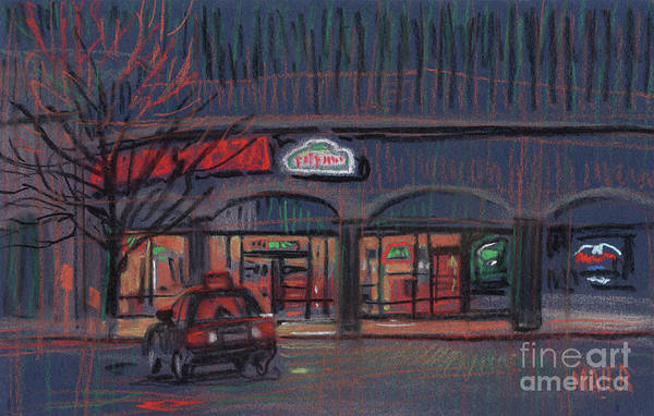 Wall Art - Drawing - Pizza Delivery by Donald Maier