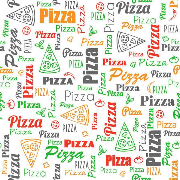 Ingredient Digital Art - Pizza Pattern by Ludmila Novikova