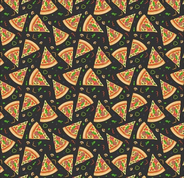 Ingredient Digital Art - Pizza Slices by Ludmila Novikova