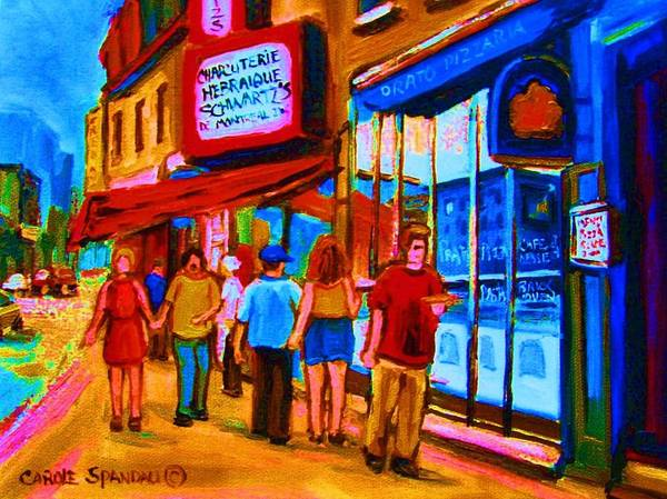 Painting - Pizza To Go by Carole Spandau