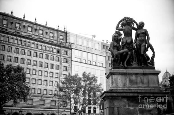 Photograph - Placa De Catalunya Rear View In Barcelona by John Rizzuto