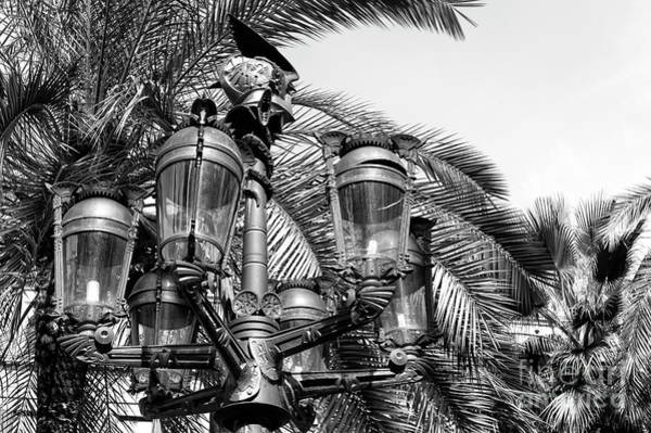 Photograph - Placa Reial Lamps Barcelona by John Rizzuto