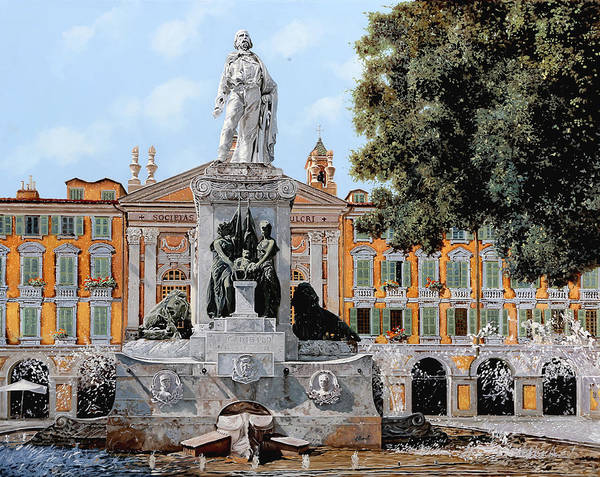 Provence Painting - Place Garibaldi In Nice  by Guido Borelli