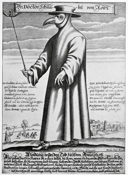 Herbs Photograph - Plague Doctor, 17th Century Artwork by
