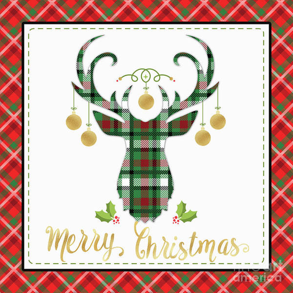 Wall Art - Digital Art - Plaid Christmas 1 by Jean Plout