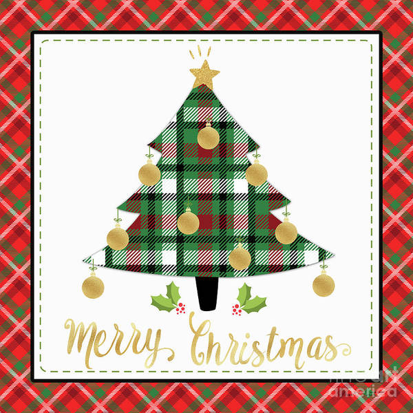 Wall Art - Digital Art - Plaid Christmas 2 by Jean Plout