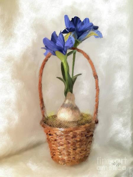 Digital Art - Plain Blue Iris by Lois Bryan