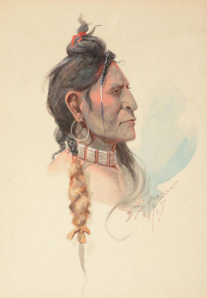 Wall Art - Painting - Plains Warrior by Edgar Samuel Paxson