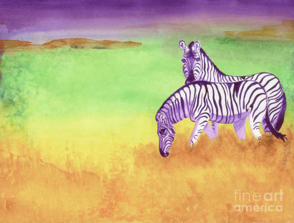Wall Art - Painting - Plains Zebra by Tracy L Teeter