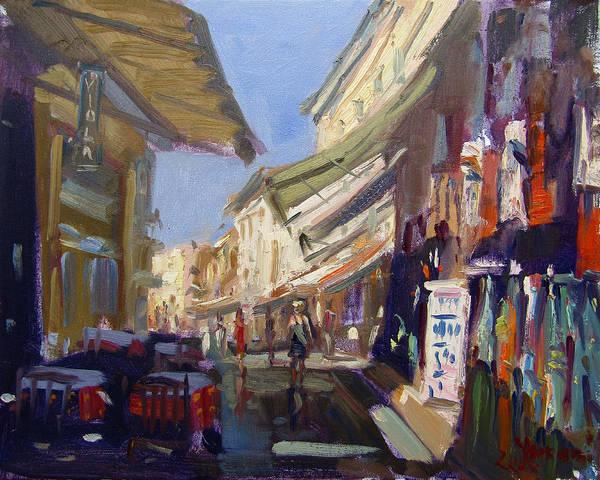 Neighborhood Painting - Plaka Athens Greece by Ylli Haruni
