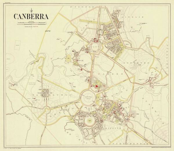 Beautiful Park Drawing - Plan Of Canberra 1933 by Walter Burley Griffin