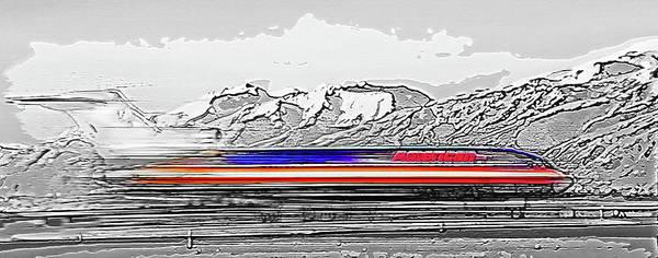 Plane At Airport 1 Art Print