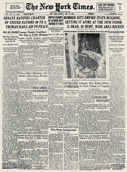 Photograph - Plane Crash, 1945 by Granger
