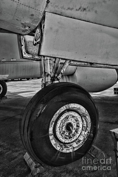 Landing Gear Photograph - Plane - Landing Gear In Black And White by Paul Ward