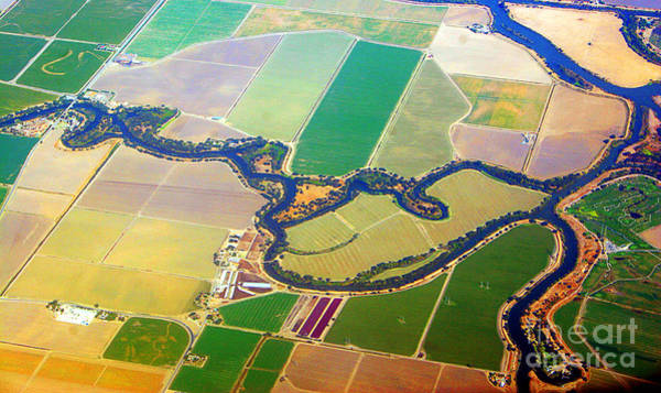 Photograph - Planet Art Colorful  Midwest Aerial by James BO Insogna