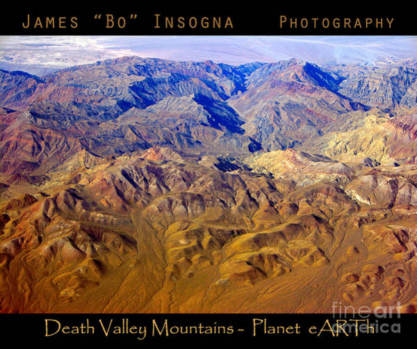 Photograph - Planet Art Death Valley Mountain Aerial by James BO Insogna