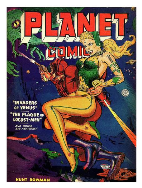 Wall Art - Painting - Planet Comics, Invaders Of Venus by Long Shot