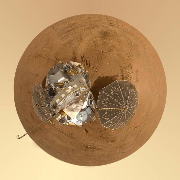 Mars Photograph - Planet Mars Via Phoenix Mars Lander by Nikki Marie Smith