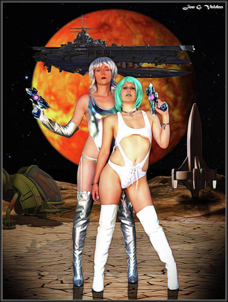 Photograph - Planet Of The Space Vixens by Jon Volden