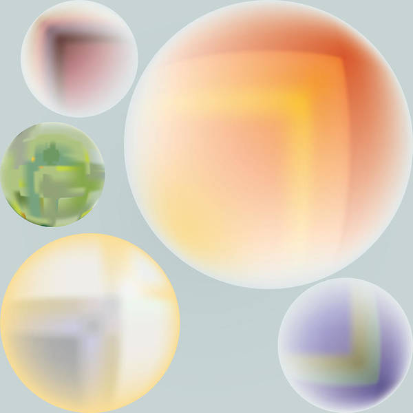 Digital Art - Planetary Family by Kevin McLaughlin