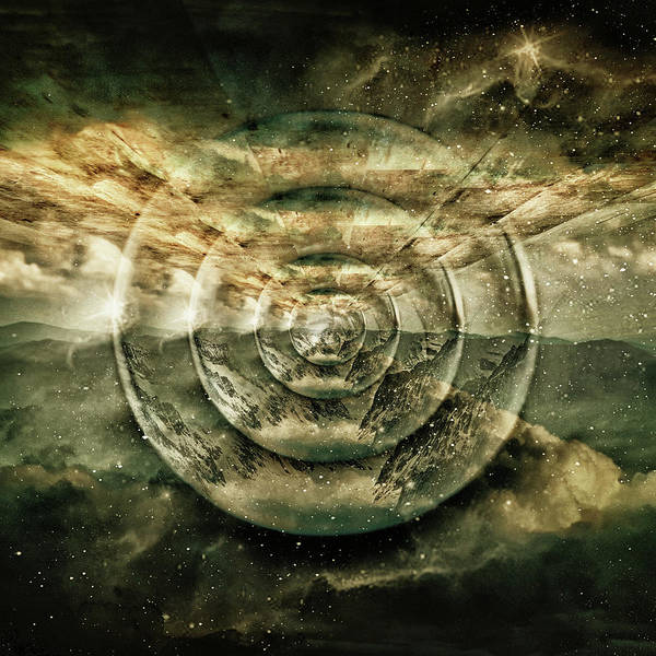 Photograph - Planetary Soul Gold Depth Perception by Christina VanGinkel