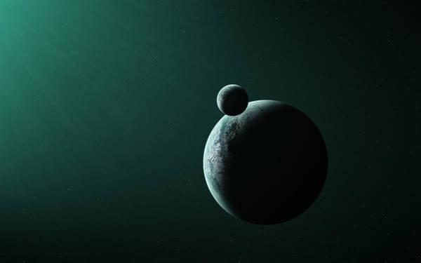 Night Digital Art - Planets by Maye Loeser