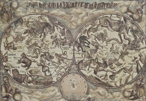 Signs Of The Zodiac Painting - Planispherium Celeste by Vali Irina Ciobanu