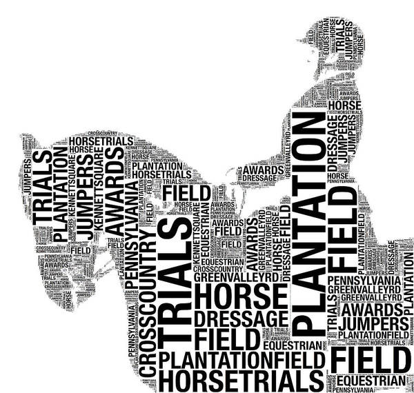 Photograph - Plantation Field Dressage Words by Alice Gipson