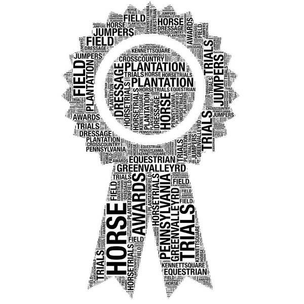 Digital Art - Plantation Field Horse Trials Ribbon Words by Alice Gipson