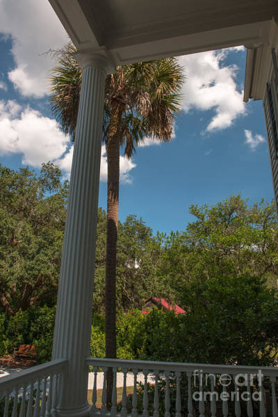 Photograph - Plantation Porch View by Dale Powell