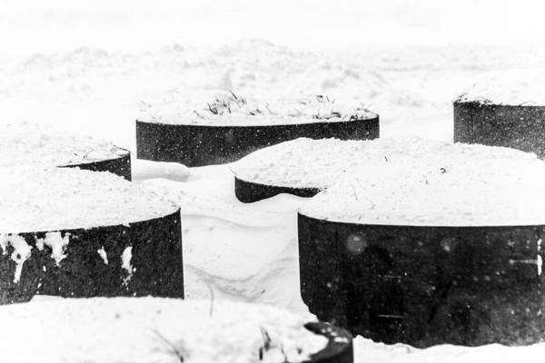 Photograph - Planters And Snow by SR Green