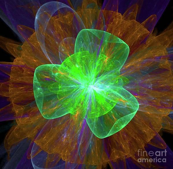Fibonacci Spiral Digital Art - Plasma Life by Raphael Terra