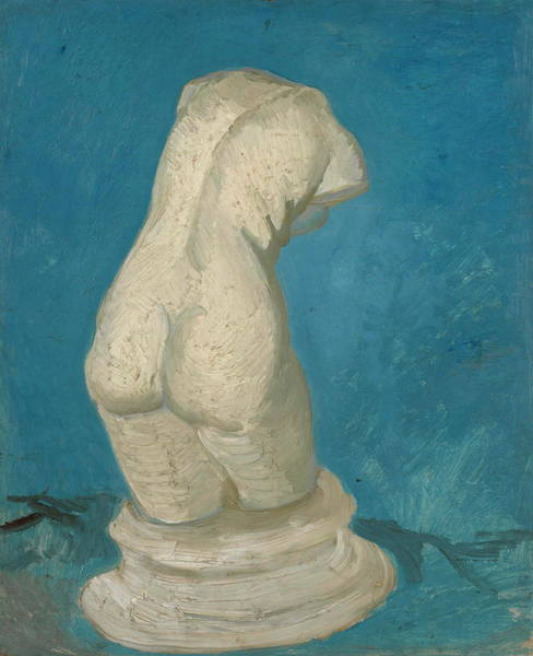 Perfect Body Painting - Plaster-torso Female In Back View, 1886 02 by Vincent Van Gogh