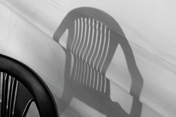 Photograph - Plastic Chair Shadow 3 by Prakash Ghai